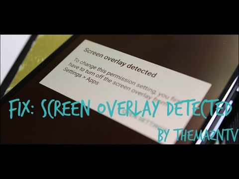 How To Turn Off Screen Overlay Detected Any Android Phone !!!