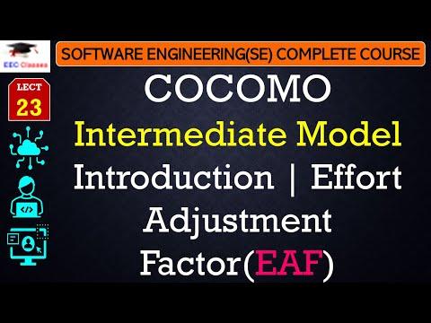 COCOMO Intermediate Model Theory, Effort Adjustment Factor(EAF) in Hindi English