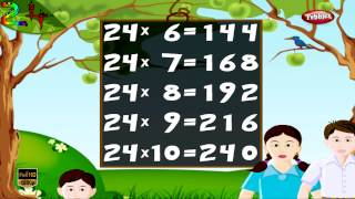 Maths Times Tables HD | Times Tables For Kids | Times Tables Practice | Multiplication Table of 24