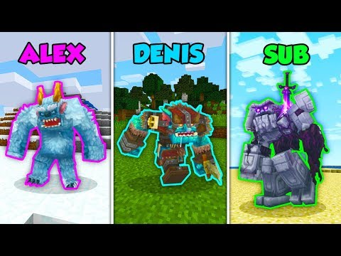 ALEX vs DENIS vs SUB - HYTALE in Minecraft! (The Pals)