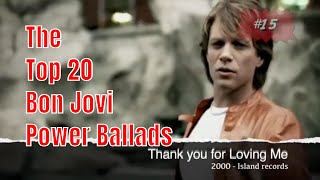 Bon Jovi  - Top 20 Power Ballads