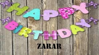 Zarar   wishes Mensajes
