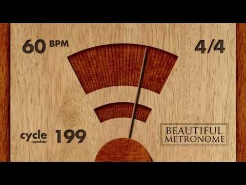 60 BPM 4/4 Wood Metronome HD