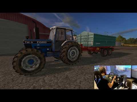 Farming Simulator 17 lets play Ballymoon Castle E12 wheel and joystick