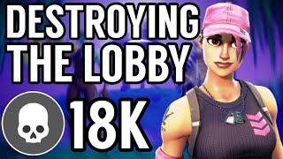 DESTROYING THE LOBBY! | *NEW ROSE TEAM LEADER SKIN* GAMEPLAY! - (Fortnite Battle Royale Season 5)