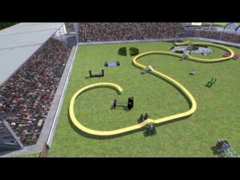 3D Course Animation - CHIO Aachen 2017 - S15 Rolex Grand Prix Jump-Off