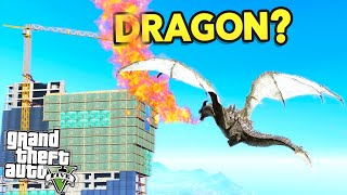 GTA 5 MODS - SKYRIM DRAGON? (GTA 5 Funny Moments)