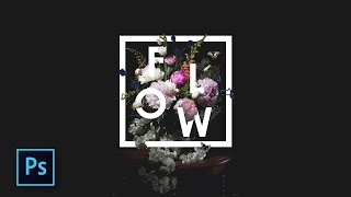 Cara Desain Typography Bunga Keren  - Floral Typography Effect - Photoshop Tutorial Indonesia