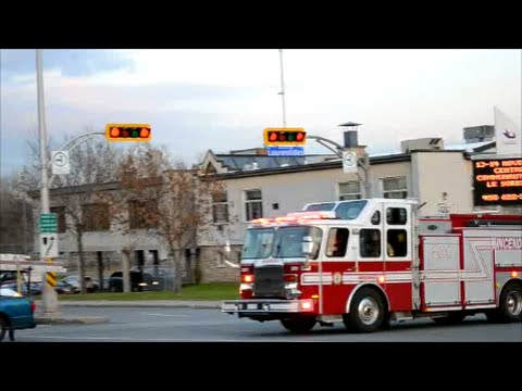 LAVAL QC FIRE TRUCK 201 RESPONDING TWICE