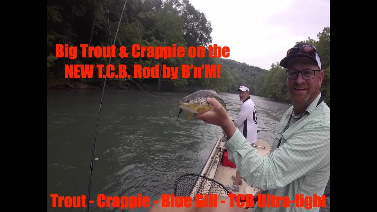 Crappie Kirby reviewing the NEW BnM Poles TCB Trout Crappie and Bluegill Ultralight