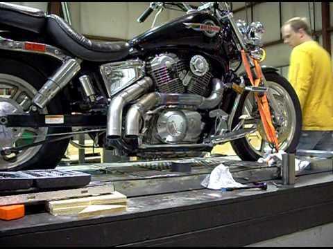 Honda Shadow 1100 >> Honda Shadow custom exhaust - YouTube