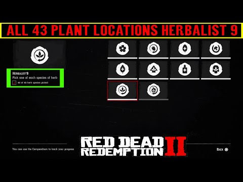 Red Dead Redemption 2 All 43 Plant Locations - Herbalist 9 Challenge