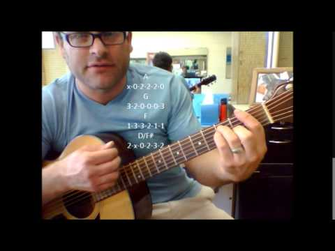 How to play Flagpole Sitta by Harvey Danger on acoustic guitar