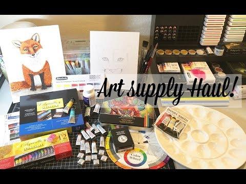 Art Supply Haul!  Jackson's Art Supply, Amazon, The Merri Artist
