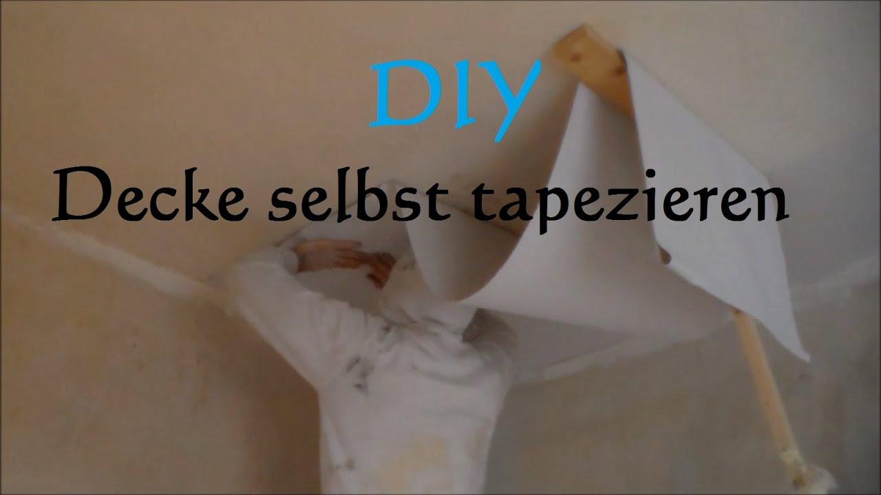 diy decke tapezieren ohne hilfe so tapeziert man eine decke anleitung decke alleine. Black Bedroom Furniture Sets. Home Design Ideas
