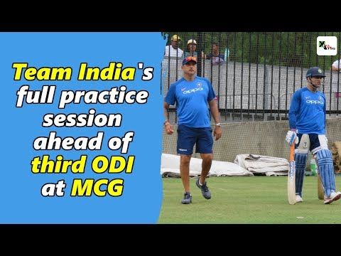 Watch: Indian cricket team's full practice session ahead of third ODI | Australia vs India