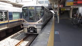 【6000番台の快速電車6両編成】225系快速宝塚行発車(尼崎駅2番のりば)