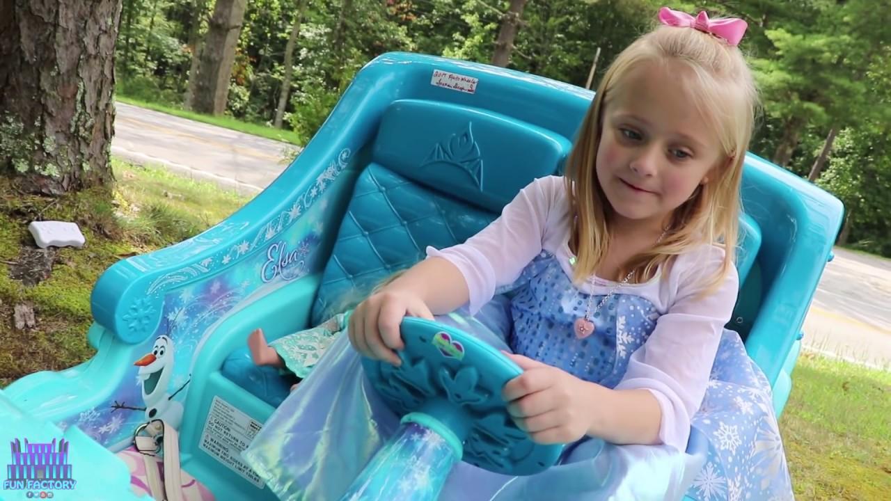 Frozen 2 Sleigh Ride On Power Wheels Toy Elsa Car Shopping