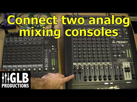 How to connect two analog mixing consoles together