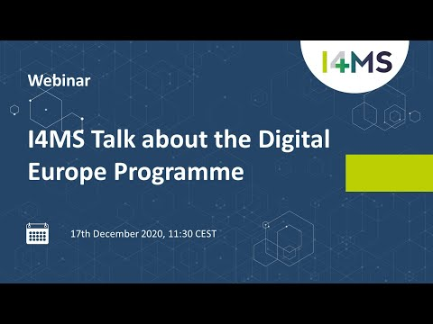 I4MS Webinar about Digital Europe Programme