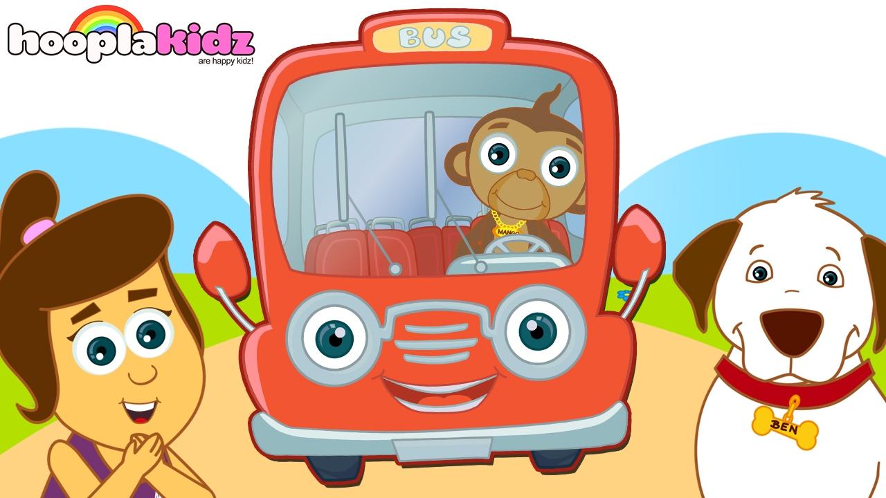 Hooplakidz Nursery Rhymes Kids Free Learn Wheels On The Bus