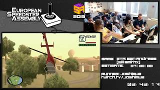 Part 3: GTA: San Andreas - World Record in 6:12:14 by Joshimuz Live European Speedster Assembly 2013