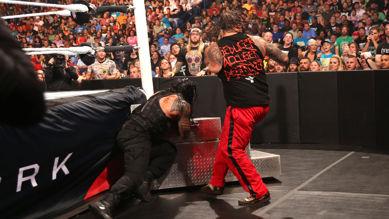 Image result for Battleground 2015 Bray Wyatt vs Roman Reigns