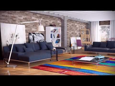 Modern Loft Living Room Design