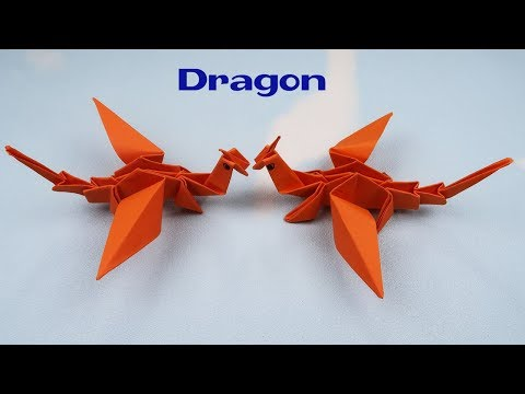 How to fold a paper Dragon ? Origami Dragon Tutorials | Paper Craft animals