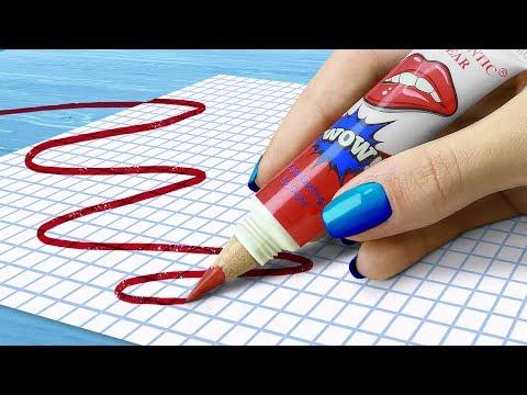 11 DIY Weird School Supplies You Need To Try! 11 School Pranks!