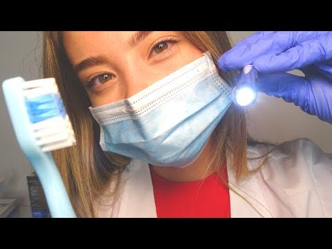 asmr-dentist-exam-role-play!-toothpaste-case-study,-latex-gloves,-brushing-&-scratching-sounds