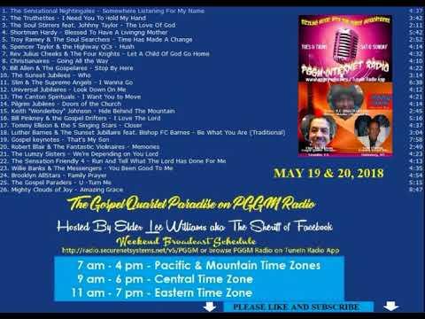 5 19 18 Gospel Quartet Paradise Weedkend Special Wth Elder Lee Williams