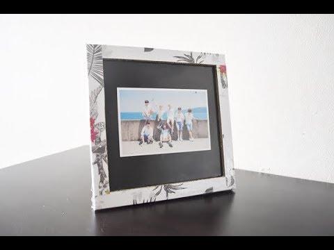 How to make photo frame DIY bingkai / frame foto dari kardus