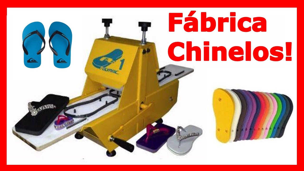 Máquina de Fazer Chinelo  Monte sua Fábrica de Chinelos do ZERO! Lucro de  R  10.300,00 Por Mês!!! - YouTube 5e508ecc0a