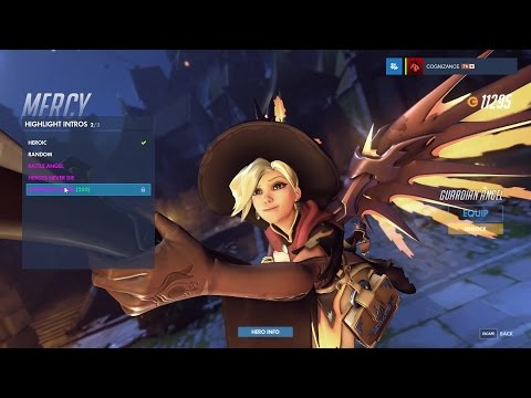 Mercy - Witch - Overwatch Halloween Legendary Skin Spotlight (intro, emote, poses)