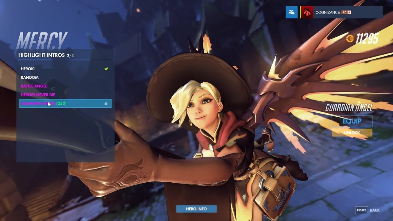Mercy - Witch - Overwatch Halloween Legendary Skin Spotlight ...