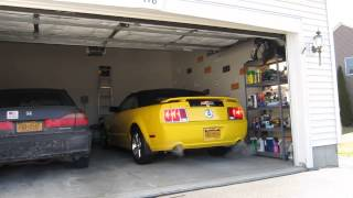 Mustang: Removal from garage after winter storage.