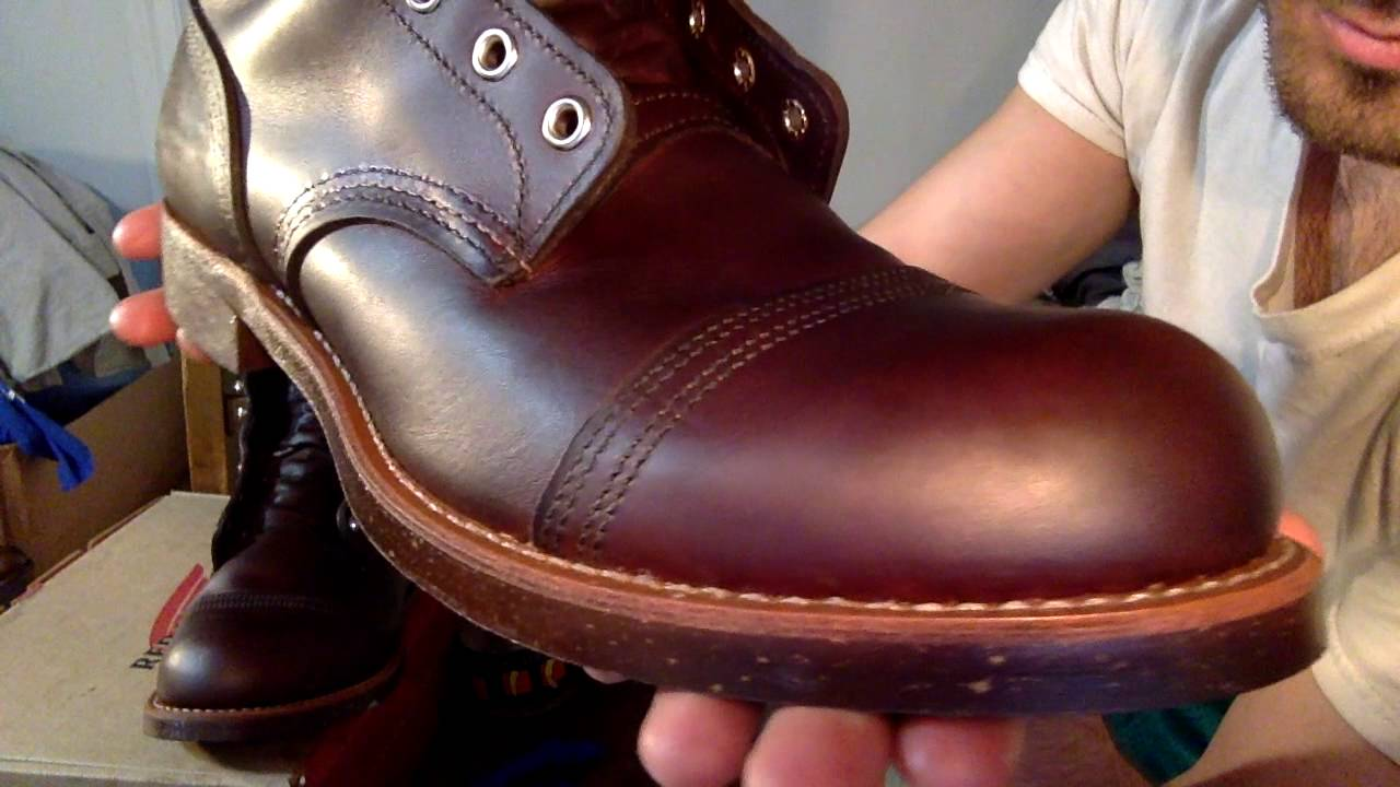 Red Wing Iron Rangers (8111) - Before and After Conditioning + Mink Oil -  YouTube 934c0bb43ffdd