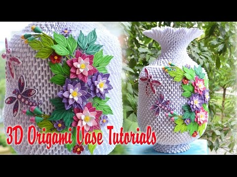 How to make a decorative paper flower vase - YouTube | 360x480