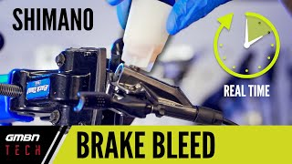 Bleeding A Shimano Dİsc Brake In Real Time | How To Bleed A Disc Brake