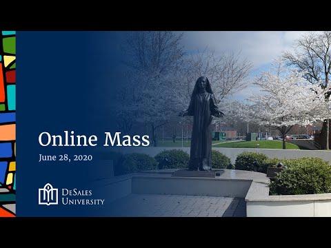 ✟ Online Mass for June 28 2020 - DeSales University