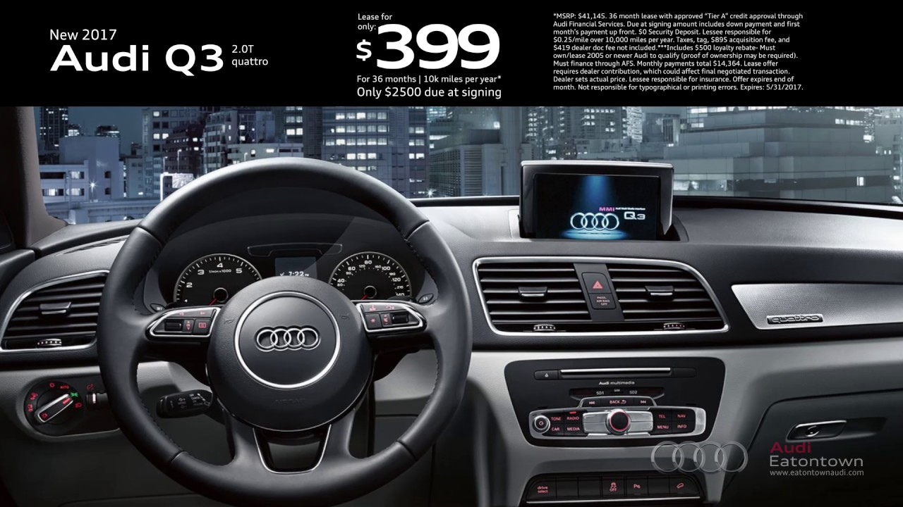 May Audi Q Special YouTube - Audi eatontown