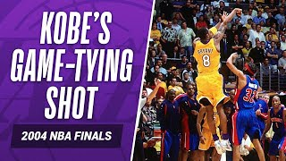 Kobe Bryant's game-tying shot in the 2004 NBA Finals #LegendaryMoments