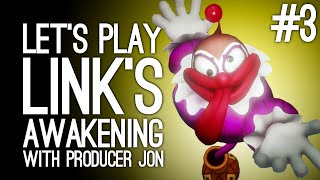 Link's Awakening Switch Gameplay: Link's Awakening with Producer Jon Pt 3 - THAT'S NOT A GENIE! 🤡😱