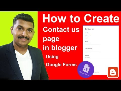 How to Create Contact Page using Google Forms in Blogger