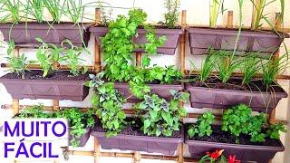 Como Fazer uma Horta Vertical em Casa
