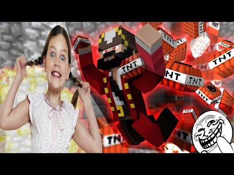 Energetic 11 Year Old Girl Trolled On Minecraft (Minecraft Trolling & Griefing)