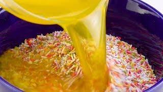Rezept für Regenbogen-Käsekuchen ergibt 2 ganze Kuchen!
