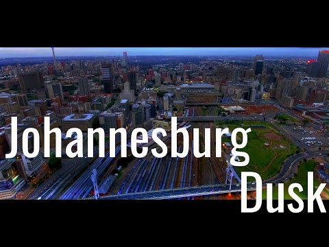 Johannesburg at Dusk | Aerial drone shots
