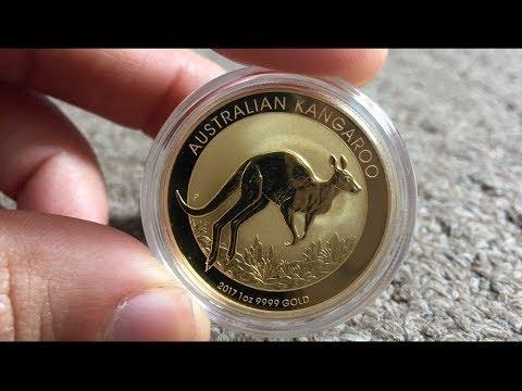 1 Oz Gold Australian $100 Nugget Kangaroo 2017 coin Review